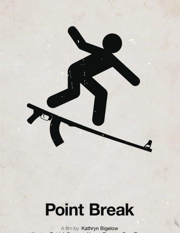Affiche minimaliste de Point Break revisitée par Viktor Hertz