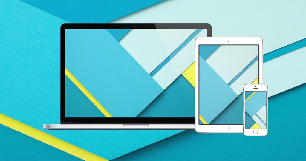 Image illustrant l'article Material Design, le flat design façon Google